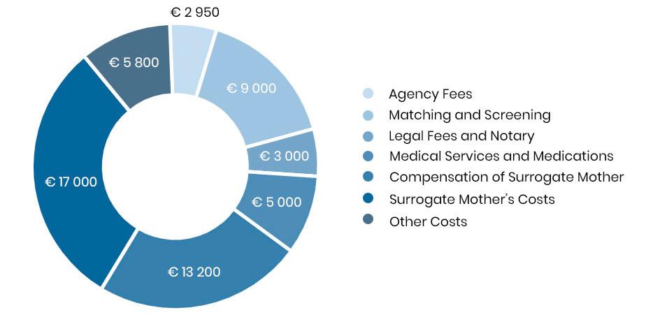 Leihmutterschaft Programm:  Erklärung der Kosten